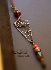 A grófné ajándéka... hosszú egyedi vörösréz nyaklánc