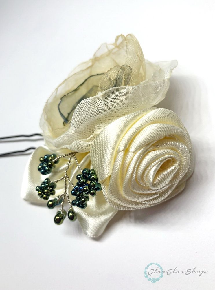 Szederke... alkalmi hajdísz szatén rózsával