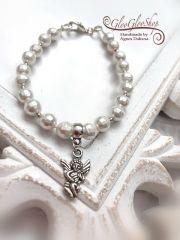 Amikor angyalok zenélnek... fazettált shell pearl gyöngy karkötő